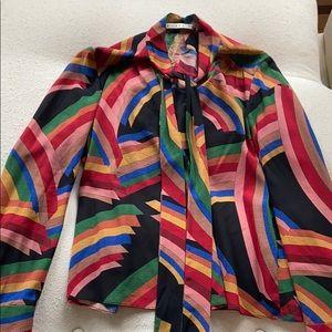 Alice & Olivia colorful blouse